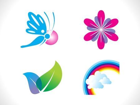 abstract spring icon template vector illustration Stock Vector - 16687662
