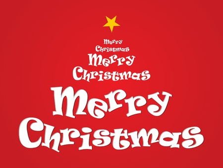 abstract merry christmas text vector illustration Vector