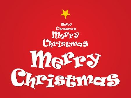 xmas linework: abstract merry christmas text vector illustration