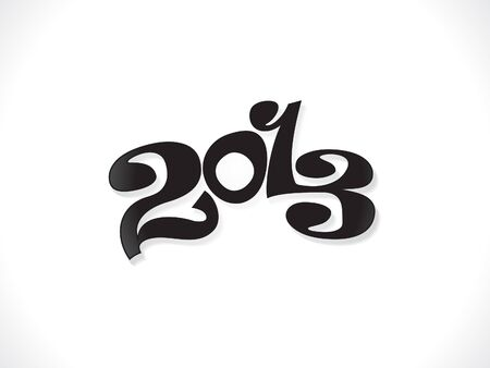 blak white: abstract new year text template vector illustration Illustration