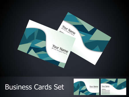 abstract business card template Stock Vector - 17073781