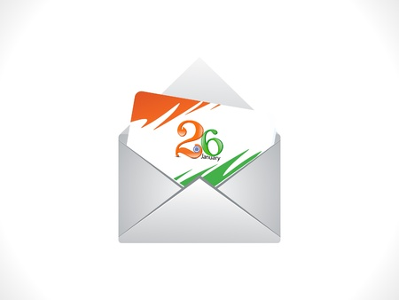 abstract republic day mail illustration Stock Vector - 17107878