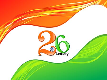 peace flag: abstract republic day flag Illustration