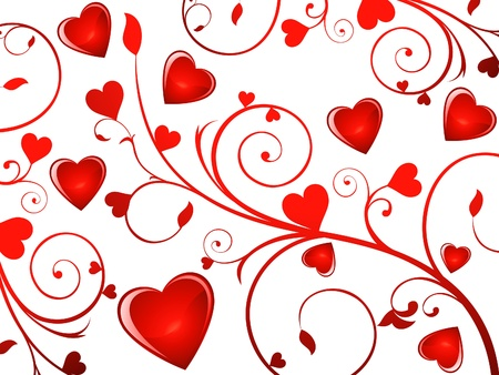 abstract glossy heart background  Vector