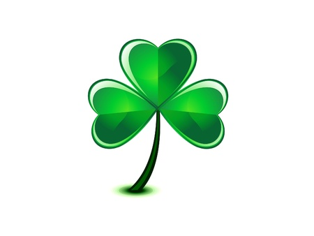 abstract st patrick clover  Vector
