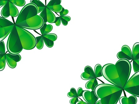 four leafed: abstract st patrick background illustration