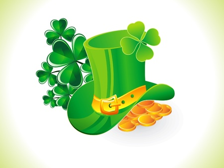 abstract st patrick hat illustration Stock Vector - 17878478