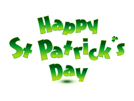abstract st patrick text illustration Stock Vector - 17878462