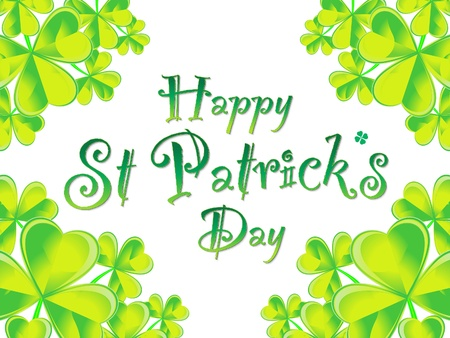 abstract st patrick background illustration Stock Vector - 17878481