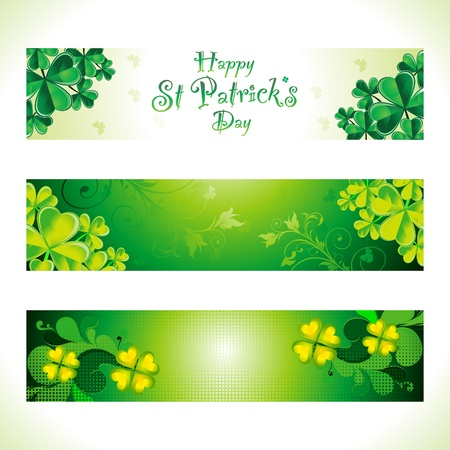 abstract st patrick web banner Vector