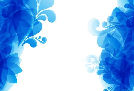abstract blue floral smoke background Vector