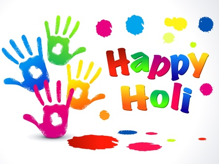 abstract happy holi background Vector