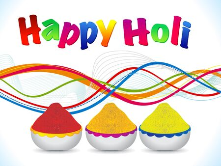 abstract happy holi background vector illustration Vector