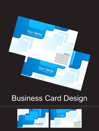 abstract blue business card illustration