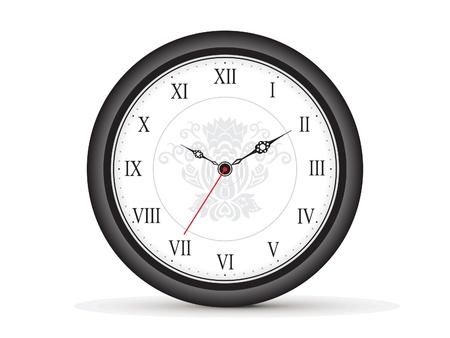 adjustable: abstract roman clock template illustration Illustration