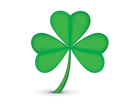 reflaction: abstract st patrick clover  illustration