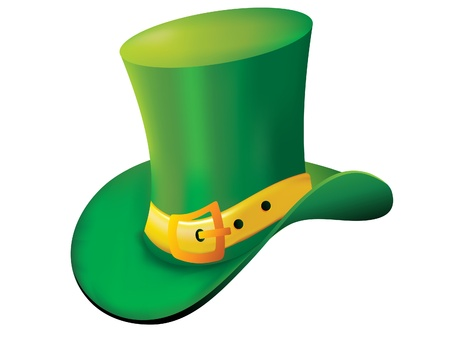 reflaction: abstract st patrick hat illustration