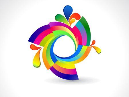 circle design: abstract rainbow rounded circle vector illustration Illustration