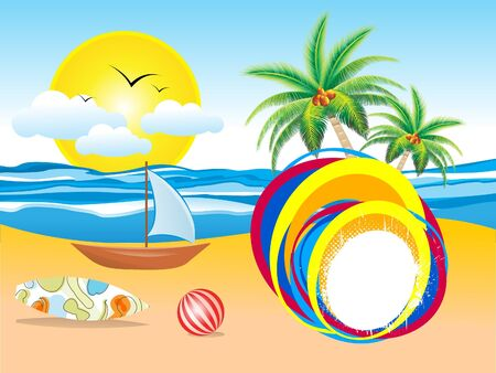 abstract summer holiday background vector illustration Stock Vector - 18989928