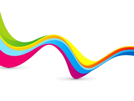 orange swirl: abstract colorful rainbow wave background vector illustration