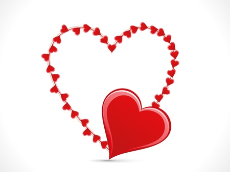 modernffection: abstract shiny heart template vector illustration