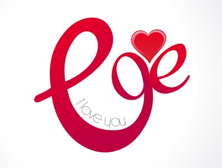 abstract love text wallpaper illustration Vector