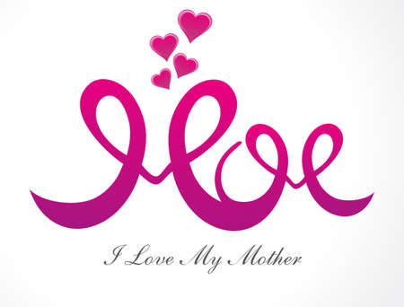 mothers day background: giorno sfondo illustrazione di astratto madre Vettoriali