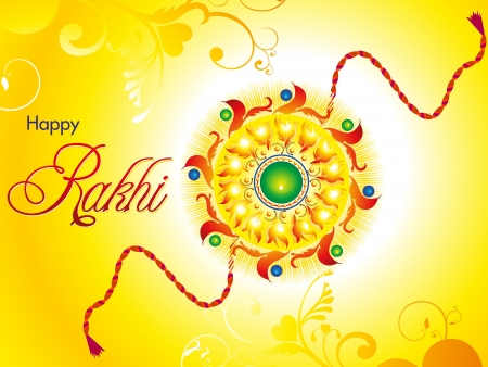 raksha: estratto raksha artistico bandhan wallpaper illustrazione vettoriale