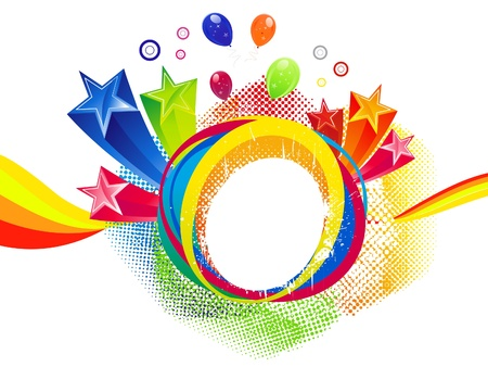 abstract colorful rainbow splash background vector illustration