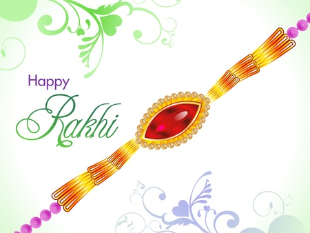 raksha: astratto Raksha Bandhan carta da parati Vettoriali