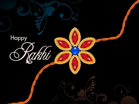 abstract raksha bandhan wallpaper Vector