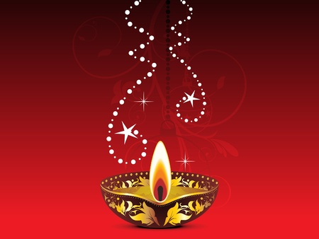 shubh: abstract colorful diwali template vector illustration