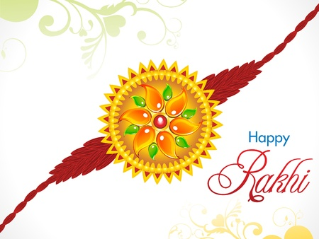 abstract raksha bandhan rakhi background vector illustration Vector