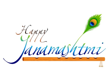 krishna: abstract janamashtmi wallpaper vector illustration Illustration