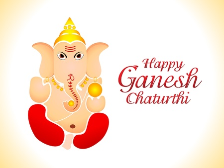 abstract ganesh chaturthi wallpaper vector illustration Vector