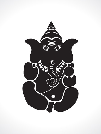 silhoette: abstract ganesh silhouette vector illustration