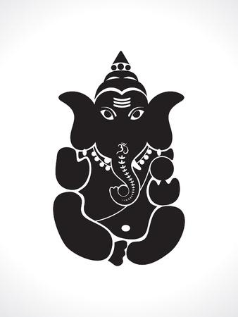 ganesh: abstract ganesh silhouette vector illustration