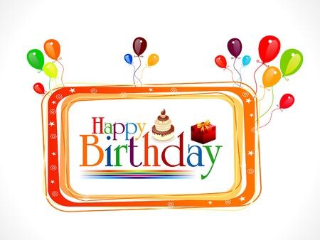abstract happy birthday text   Vector