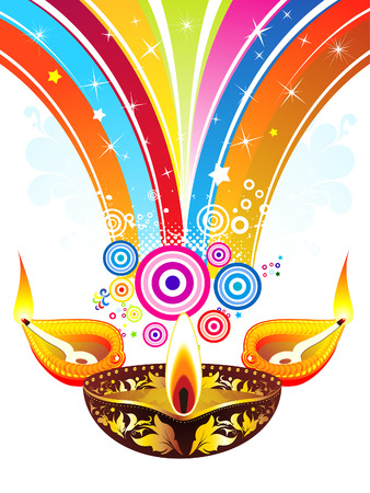 deepawali backdrop: abstract diwali explode background vector illustration Illustration