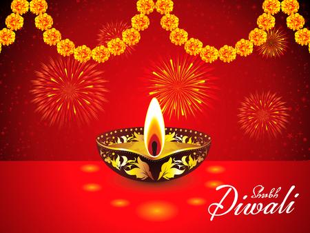 deepawali backdrop: abstract diwali background vector illustration