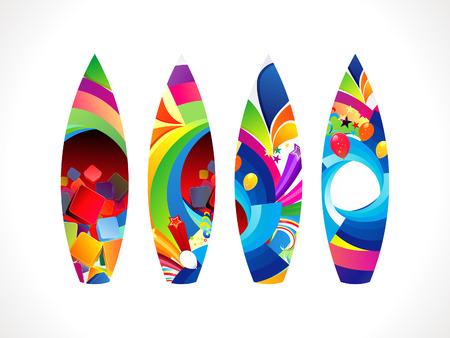 surf board: abstracta de colores de surf board conjunto ilustraci�n vectorial