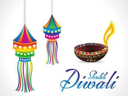indian light: art�stico Diwali ilustraci�n de fondo vector