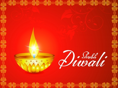 ethnicity happy: abstract artistic diwali background vector illustration