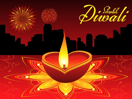 deepawali backdrop: abstract diwali background vector illustration