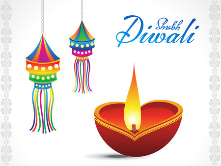 shubh: abstract diwali background  vector illustration Illustration