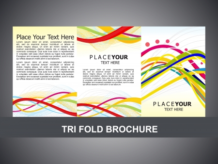 abstract tri fold brochure template vector illustration Vector