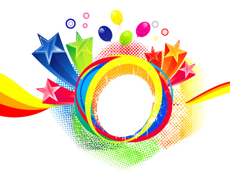 abstract colorful explode  vector illustration Vector