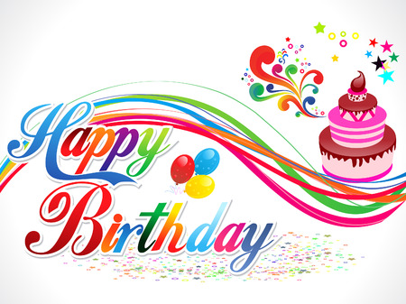 happy birthday text: abstract happy birthday background vector illustration
