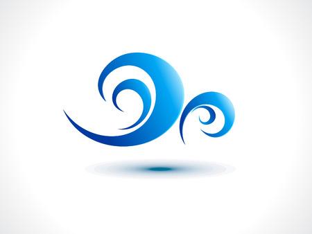 viento: viento abstracto icono de ilustraci�n vectorial