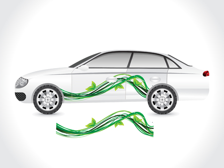 car tuning: abstract eco car sticker illustration Illustration